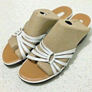 "Rockport Sandals Slides  Size 9.5 M 3"" Wedge White"